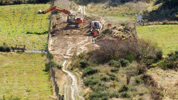 Excavation work is happening on the Port Hills at the site of the Christchurch Adventure Park.