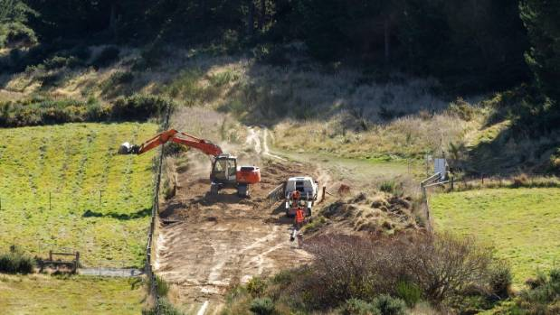Excavation work on the Port Hills where the Christchurch Adventure Park will be located.