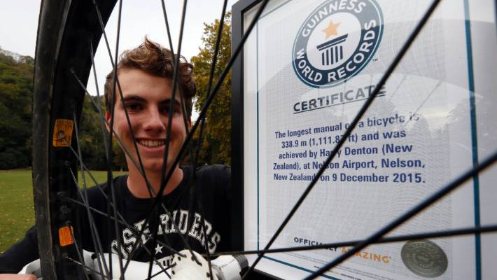 Nelson Teen Officially Recognised For Breaking Guinness World Record