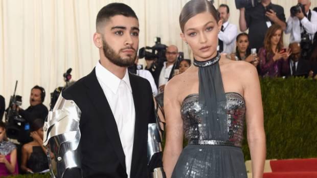 Gigi Hadid, with boyfriend Zayn Malik at the Met Gala.