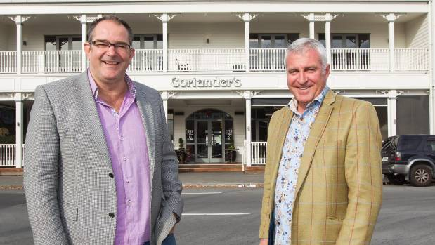 Property developers Craig Newbury, left, and Miles Yeoman developed a replica of the old Occidental hotel that houses a ...
