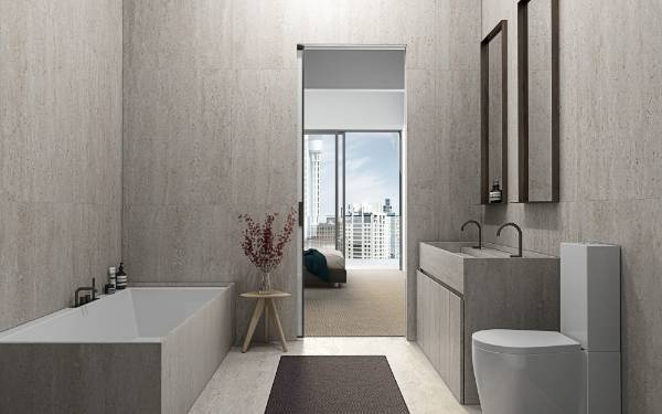 Contemporary bathrooms will also feature the latest technology and materials.