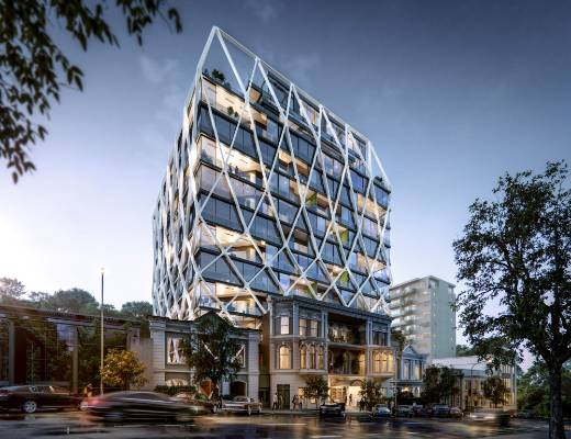 The International apartments in Princes St, Auckland, designed by Jasmax, will retain the historic facade from the ...