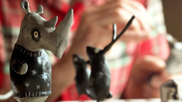 The animal sculptures created by Edward Newbigin, featuring in The Lonely Animal Friendship Society film.