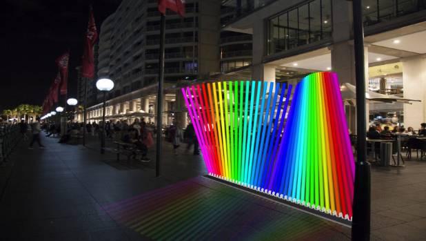 Kiwi artist Jarrod Barrow's  Spectrum is lighting up a corner of Sydney Vivid this year.