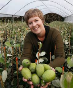 Fruit tree expert Kate Marshall of Waimea Nurseries.