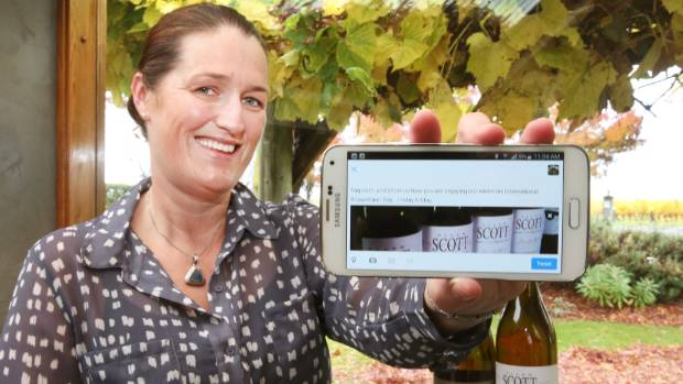 Allan Scott Family Estate social media manager Kylie Cornelius with the two most important International Sauvignon Blanc ...