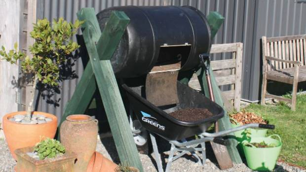 a rotating compost bin is a tidier faster option for turning kitchen scraps into food
