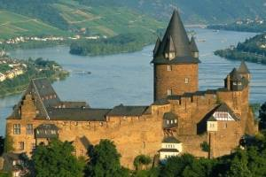 Stahleck Castle at Bacharach on the Rhine River in Germany.
