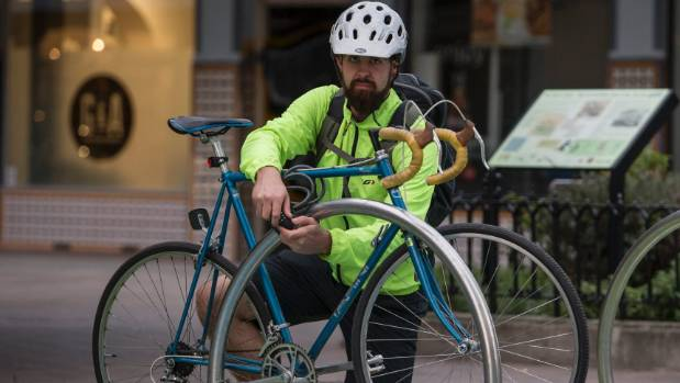 Christchurch cyclist Tom Rose, 29, knows the hassle of losing a bike after having two stolen in the central city.
