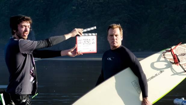 Behind the scenes filming 800 Words on location in Huia.