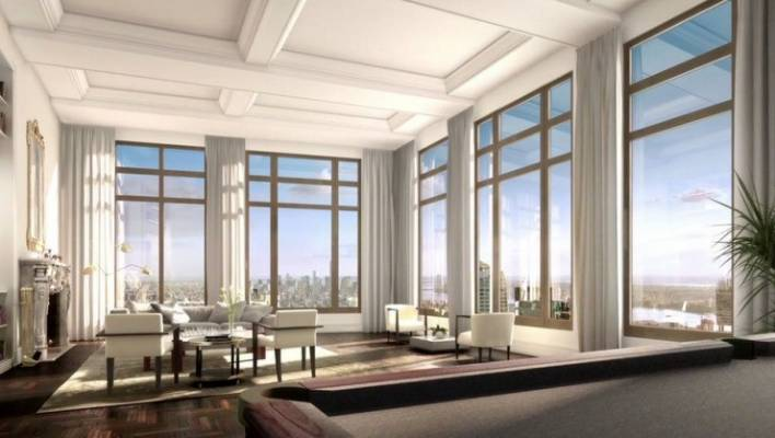 The Luxury Condo At 220 Central Park South Will Cover A Massive 2130 Square Curbed Ny
