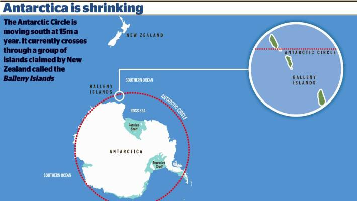 Changes in the tilt of the Earth\'s axis mean the Antarctic is ...
