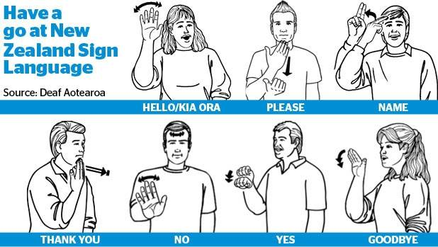 Image result for nz sign language hello goodbye
