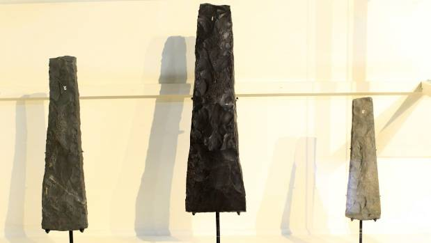 Adzes from Wairau Bar on display at the Marlborough Museum in 2011.