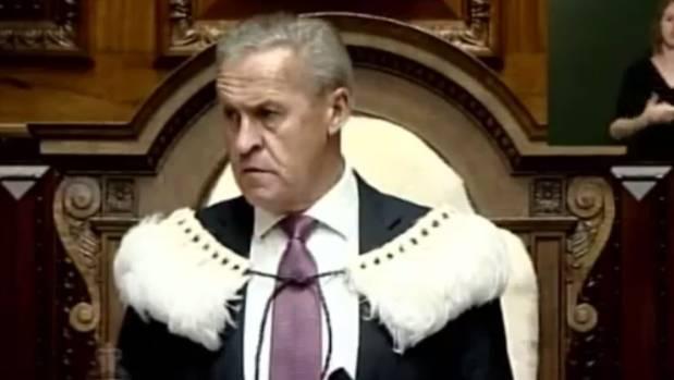 Speaker David Carter ordered Prime Minister John Key to leave the house.