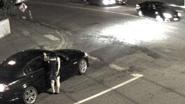 Footage from a camera positioned at the corner of Manchester and Purchas streets in May 2016 shows the prostitution ...