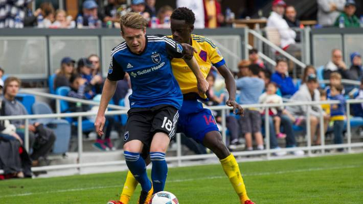 Kip Colvey made his MLS debut in San Jose's opening contest # 39; the series 2016.