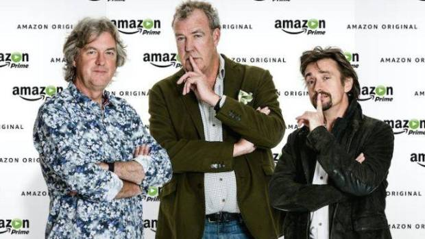 James May, Jeremy Clarkson and Richard Hammond star in The Grand Tour.