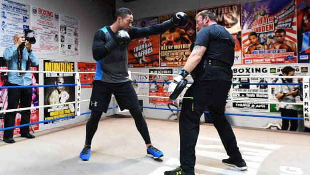Fans who want to see Joseph Parker fight, seen here at a media and training session, will have to participate in ticket ...