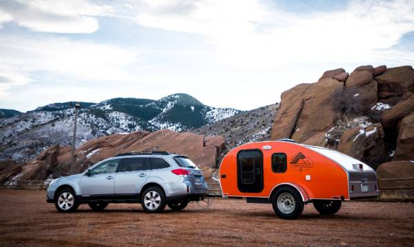 The aerodynamic shape of the teardrop makes it easy to tow.