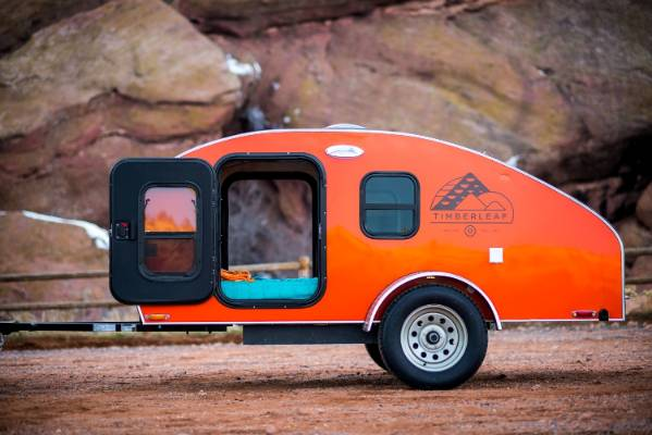 Modern Version Of The Tiny Teardrop Caravan Comes With All
