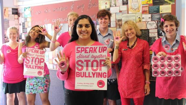 Rosehill College marks Pink Shirt Day | Stuff.co.nz