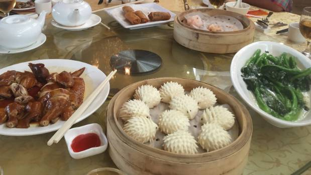 A selection of Cantonese food in Guangzhou.