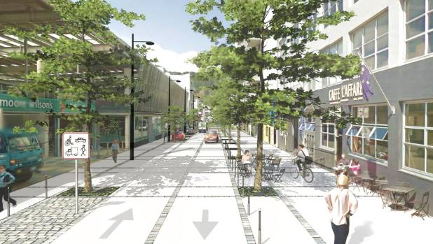 Te aro develops shared space plan in bid to side step for Shared space design
