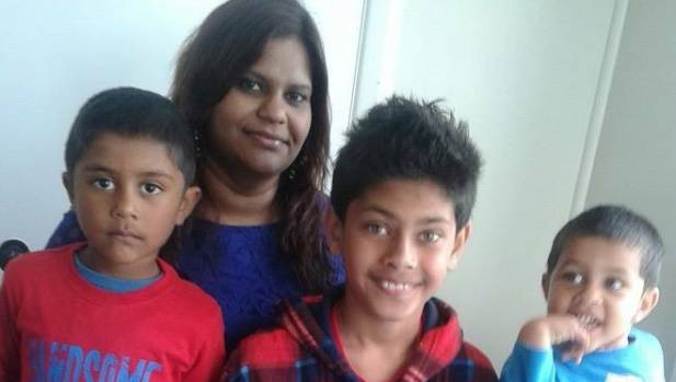 Wellington mother Moreen Naidu with sons, Moulik, 5, Rohan, 11, and Elijah, 4, in October. She died on Saturday of a ...