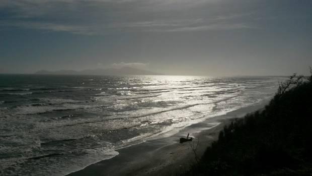 Kapiti Island and Tasman Sea