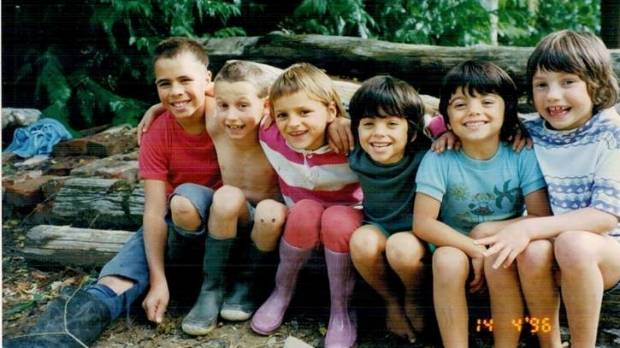Six of the adopted Graham kids. From left to right: Tristan, Misha, Cristina, Joanna, Natasha, Masha