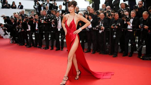 """That"" red dress from last year at Cannes."