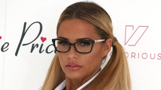 Katie Price, out on the town, selling her merchandise.