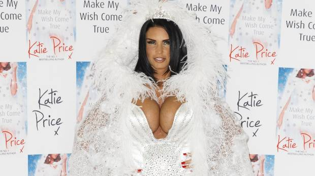 Katie Price at her book launch.