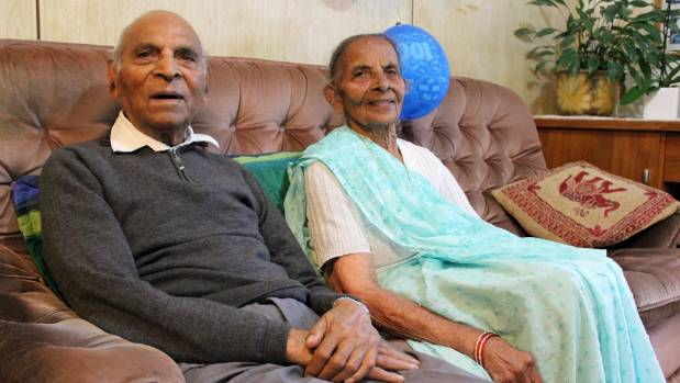 Auckland couple Jeram and Ganga Ravji, both 101, have been married for 82 years. They have six children, 15 ...
