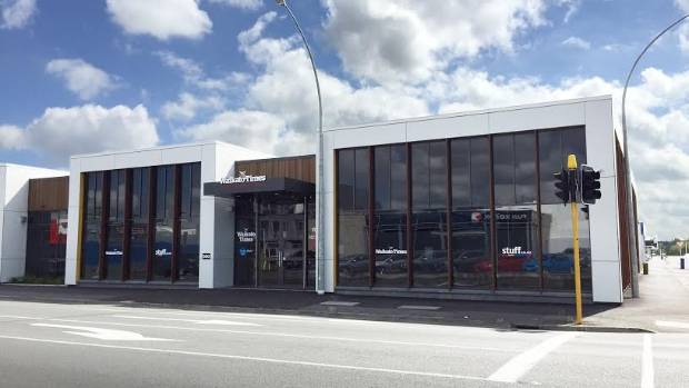 Waikato Times new premises corner of Angelsea and Rostrevor Streets.