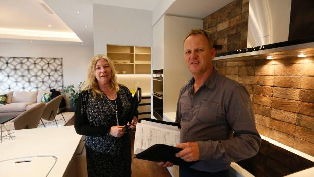 Registered Master Builders House of The Year judges Faye Pearson-Green and Tony Pexton in a Richmond house.