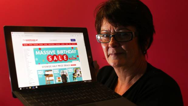 Marlborough Women's Refuge manager Rachel Black on the Warehouse website where an untraceable portal is located to help ...
