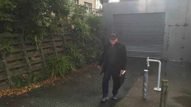 Colin David Boyd leaves the New Plymouth courthouse on Thursday after a jury found him guilty on a raft of charges of ...