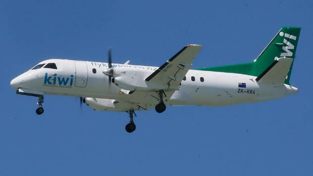 A Kiwi Regional Airlines Saab 340 aircraft comes into land at Nelson Airport. The airline is back in the air after a ...