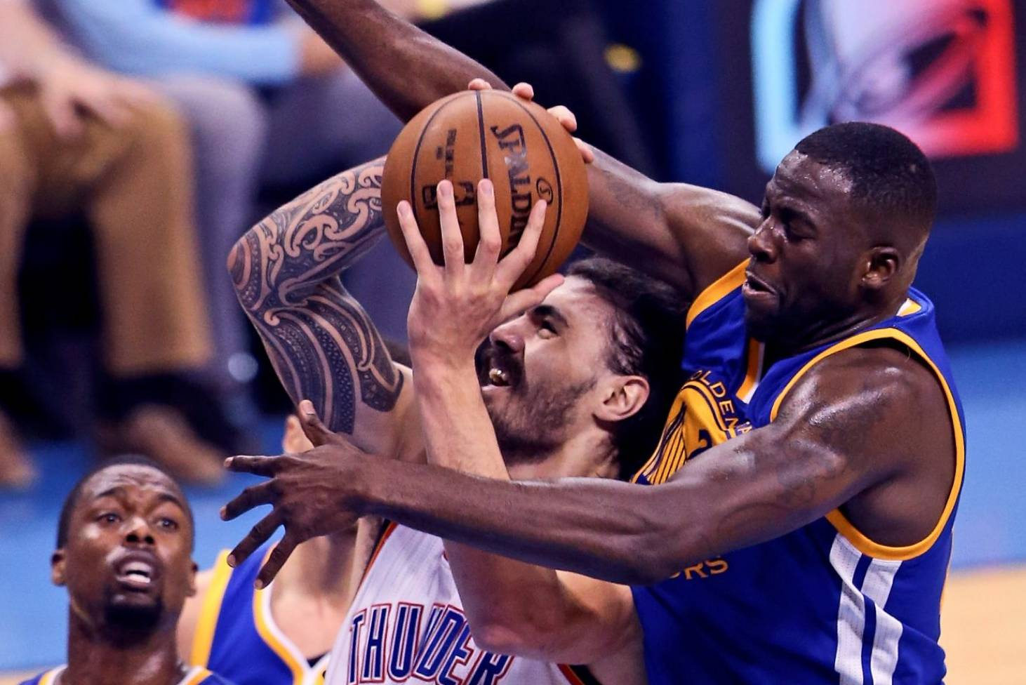 0cfb510b7c07 Steven Adams playing through pain barrier in OKC Thunder s post-season  charge