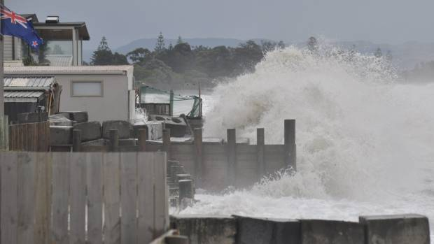 Storms and sea level rise have claimed several properties at Haumoana. Without a seawall, Mark Lawrence's properties ...