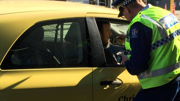 Police dished out their first tickets on Friday on the corner of Montreal and Cashel streets.
