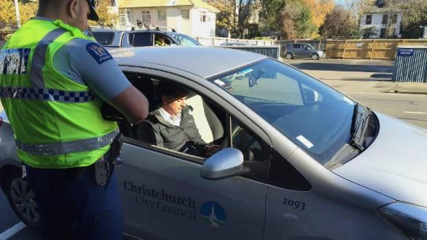 Two Christchurch City Council staff were pulled over for speeding.