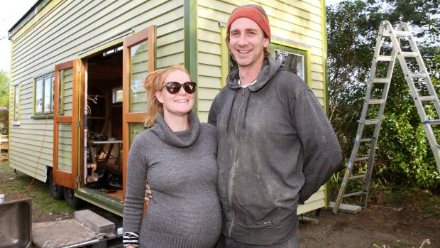 Jess Ellis and Nic Fairbrother say the budget for their tiny home could double if they need resource consent.