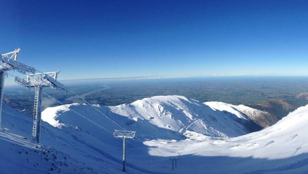 A picture perfect Mt Hutt Ski Area on Monday after a weekend of heavy snow fall.