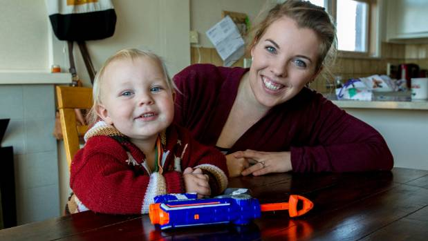 Twenty-month-old Harley Weaver, pictured with his mum, Simone, is in remission from neuroblastoma.