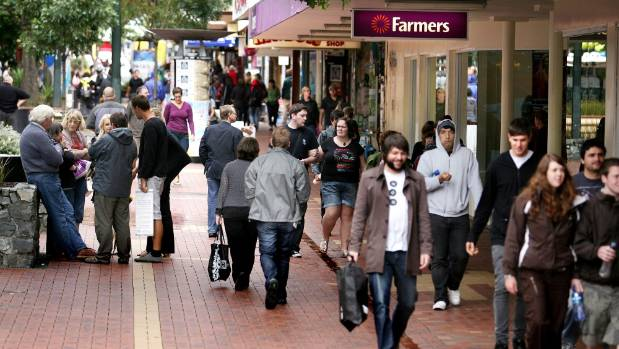 Cuba St has more than 40 quake-prone buildings, but shoppers had returned less than 48 hours after the latest earthquake.