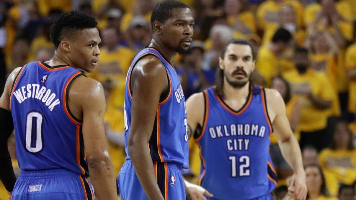 70acd8a85ade Steven Adams misses out on NBA Finals as Oklahoma City Thunder lose ...
